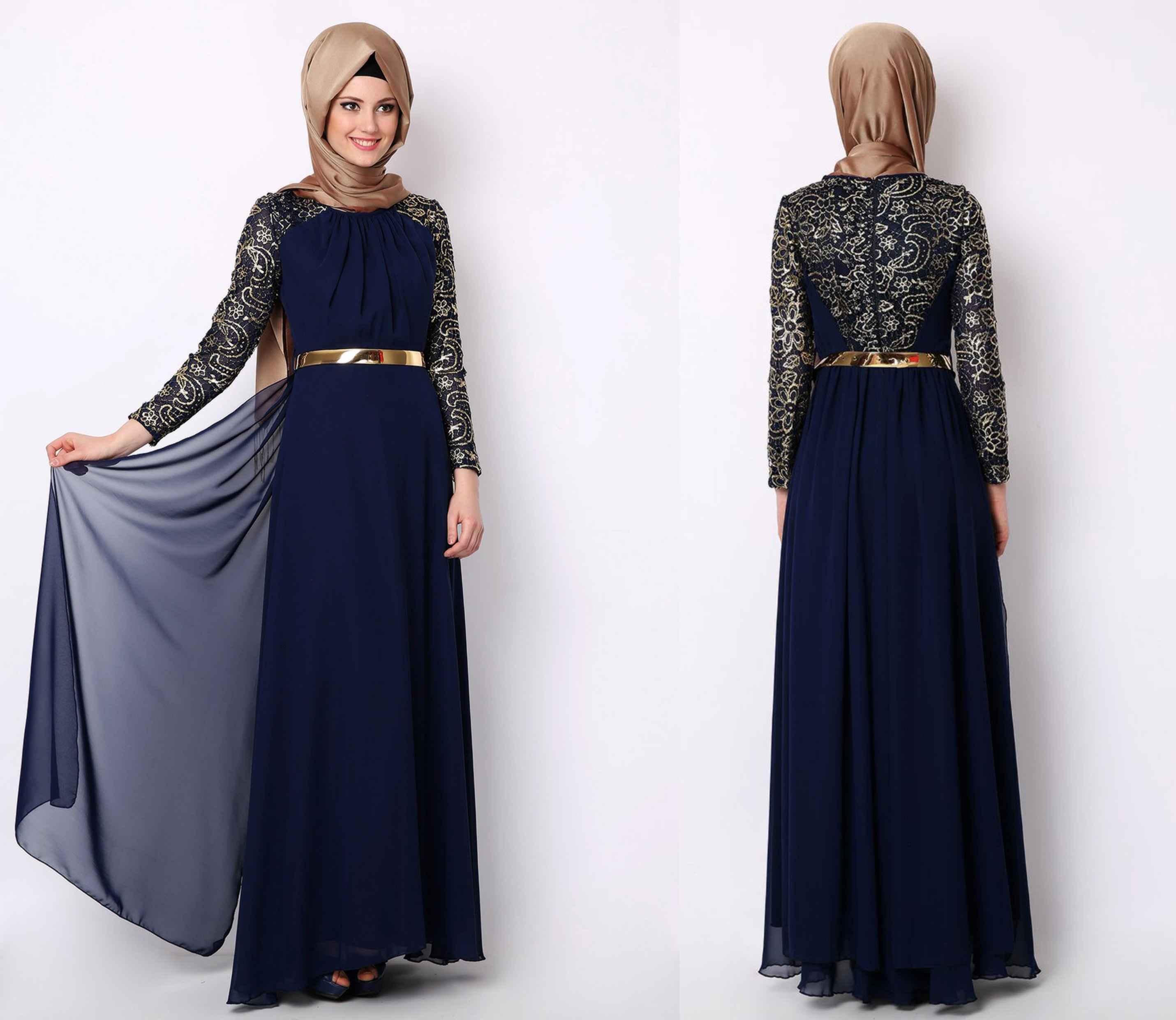 145d35f5eacb2 Tesettür Tül Elbise Modelleri - Moda Tesettür Giyim