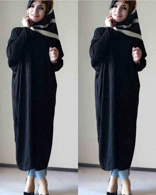 Tesettür Uzun Salaş Tunik Modelleri
