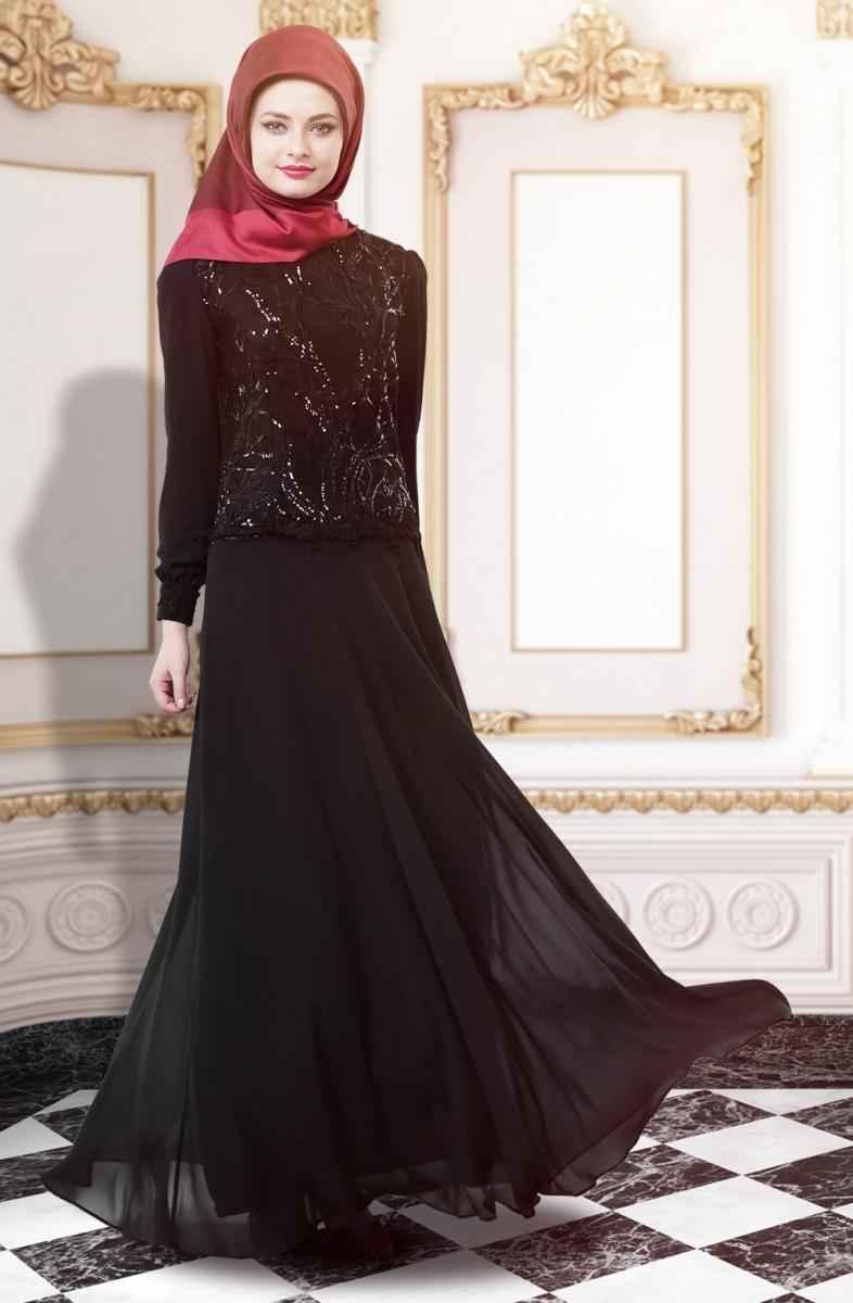 90205c43d89ad Tesettür Gelin Annesi Elbise Modelleri | Moda Tesettür Giyim