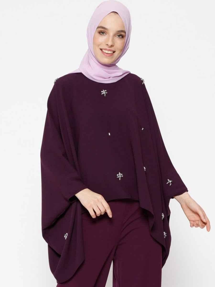 Şık Tesettür Yarasa Kol Bluz Modelleri