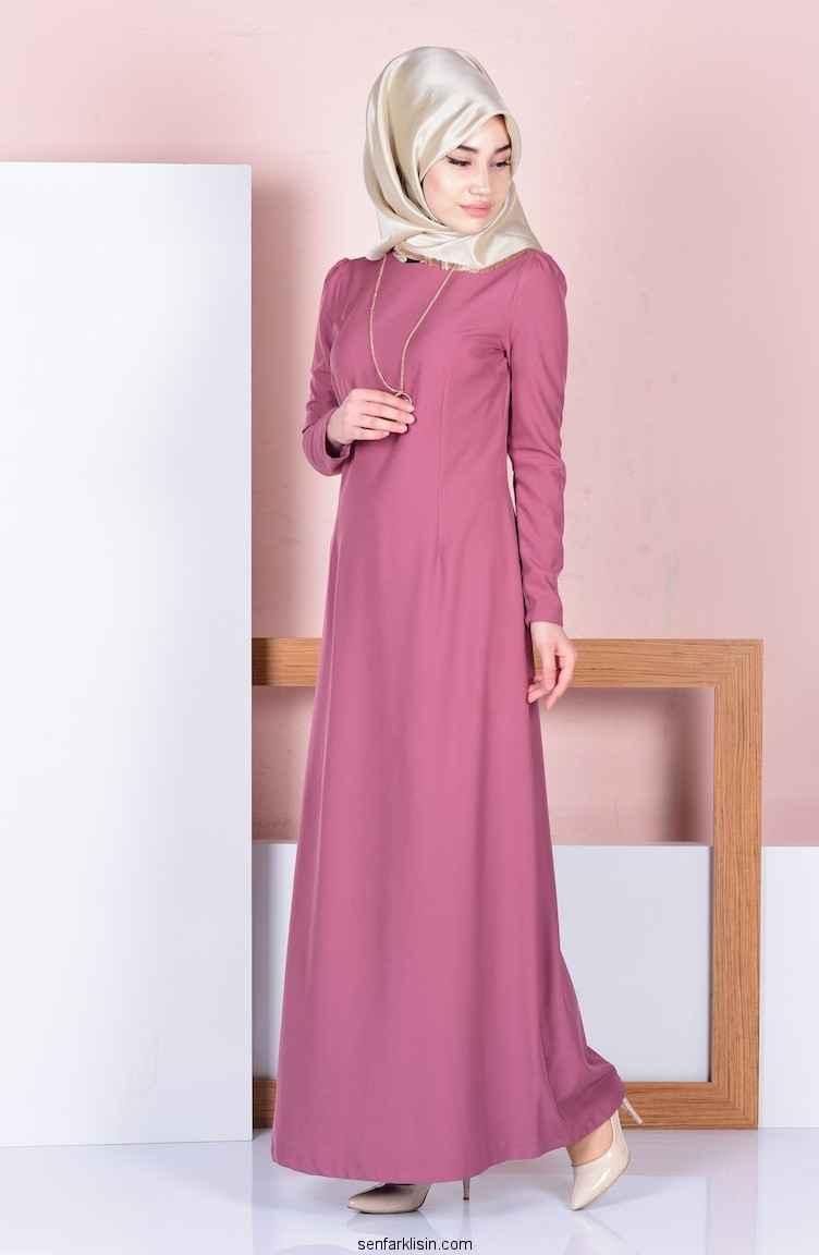 2017 Günlük Tesettür Elbise Modelleri