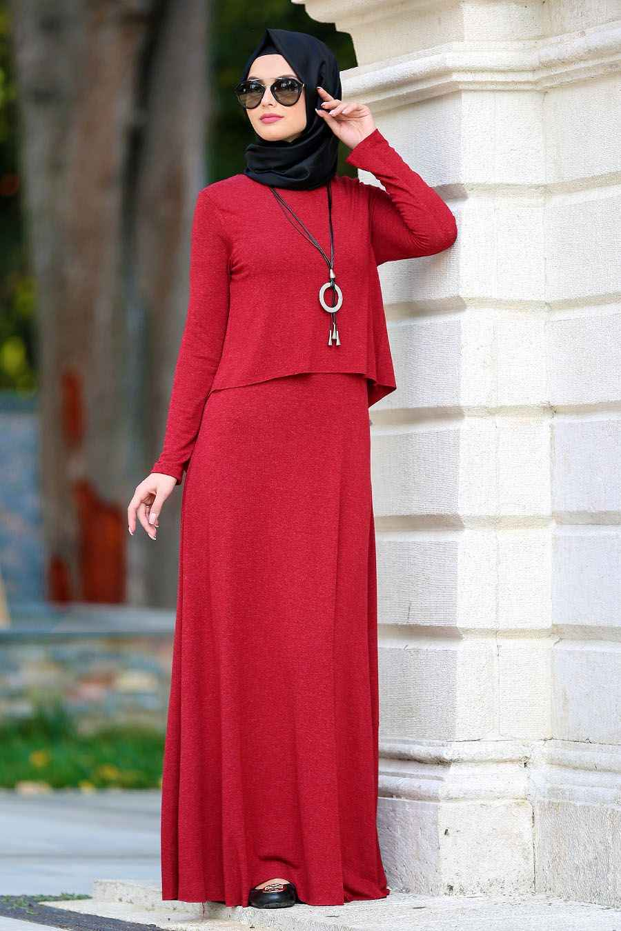 2018 Neva Style Tesettür Günlük Elbise Modelleri