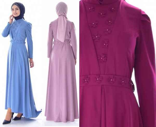 2019 Şık Tesettür Elbise Modası
