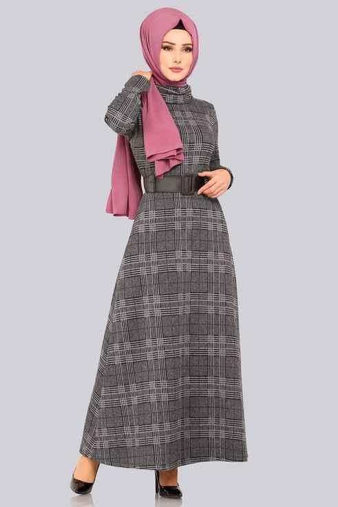 Yeni Sezon Modaselvim Tesettür Kışlık Elbise Modelleri