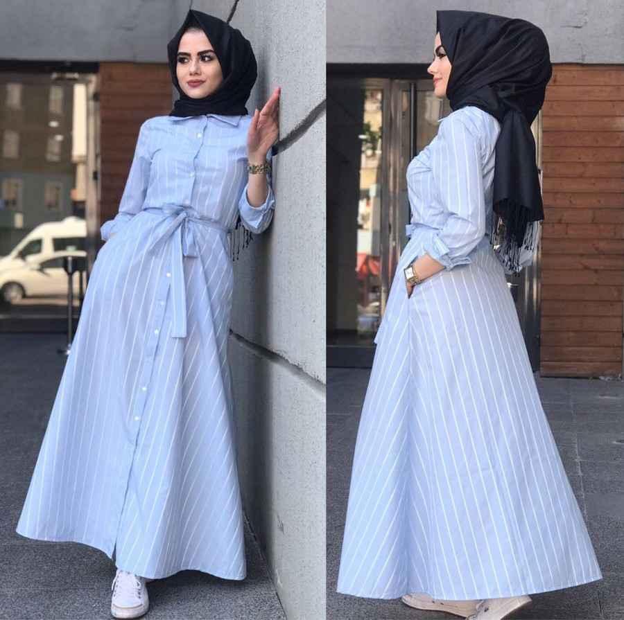 7dcea0a1a76a5 Elfida Tesettür Uzun Gömlek Modelleri - Moda Tesettür Giyim