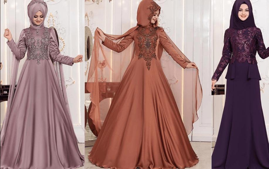 En Şık 2019 Tesettür Abiye Modelleri