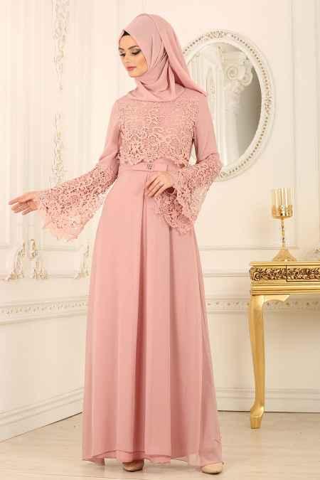 79b68952eb9a1 En Güzel Nayla Collection Dantelli Abiye Elbise Modelleri