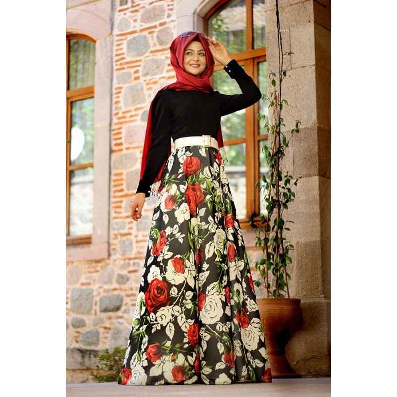 En Güzel Pınar Şems Tesettür Elbise Modelleri