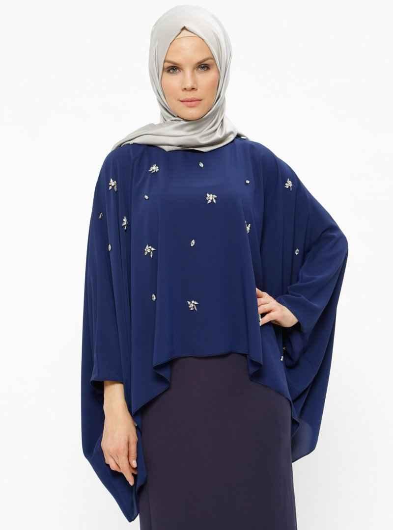En Güzel Tesettür Yarasa Kol Bluz Modelleri