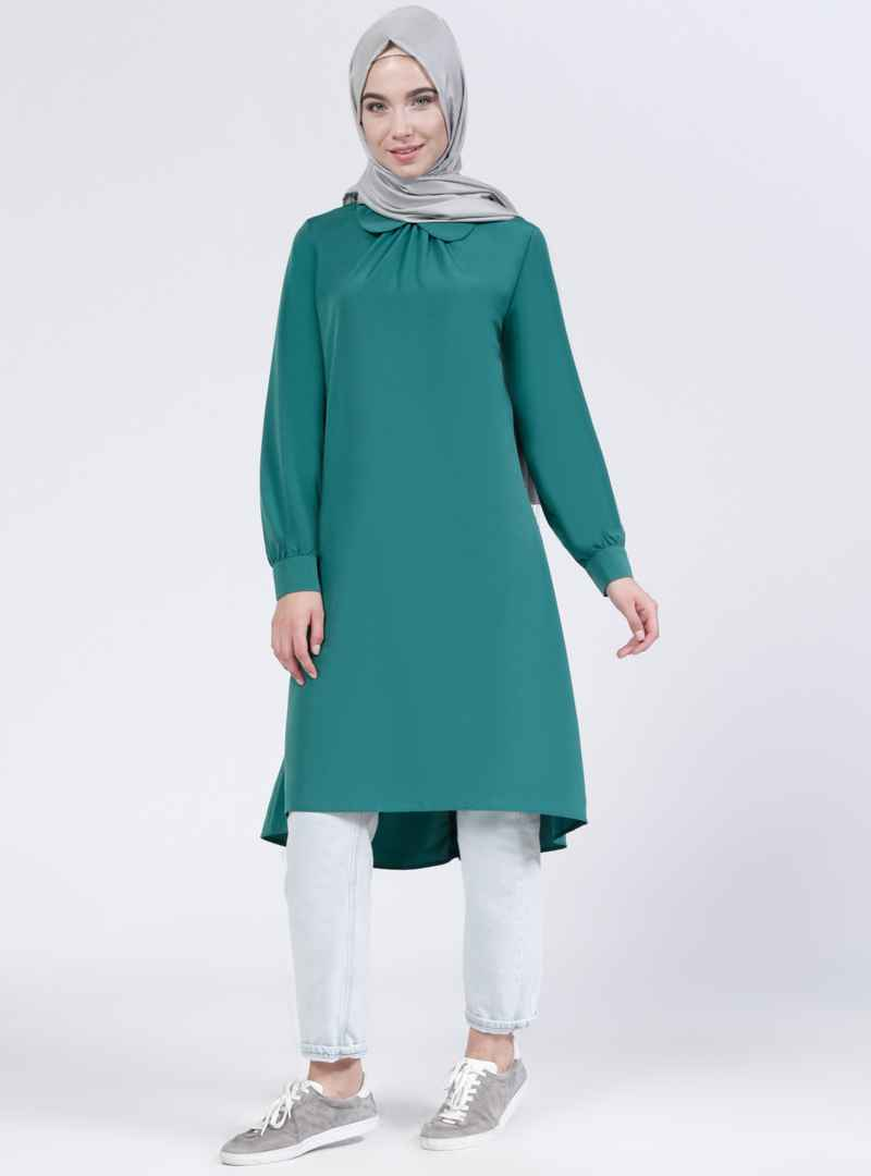 Everyday Basic Tesettür Bebe Yaka Tunik Modelleri