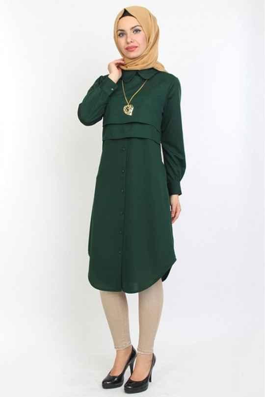 Moda Royal Tesettür Bebe Yaka Tunik Modelleri