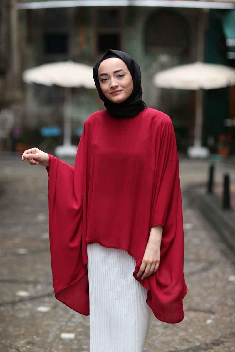 ModaOnur Tesettür Yarasa Kol Bluz Modelleri