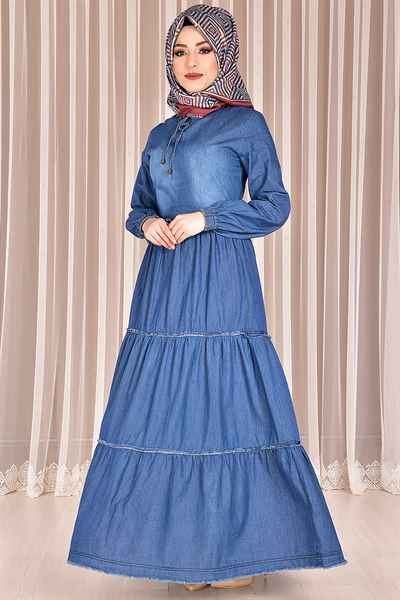 Modamerve Tesettür Günlük Elbise Modelleri