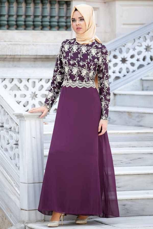 Nayla Collection Nakışlı Abiye Elbise Modelleri