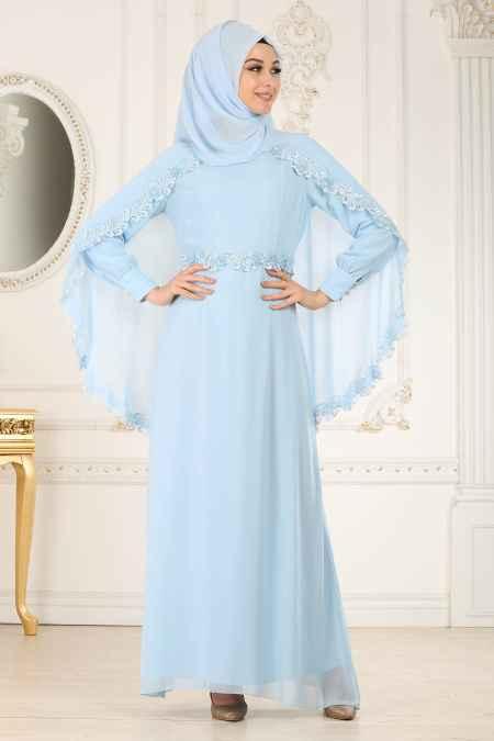 Nayla Collection Pelerinli Abiye Elbise Modelleri