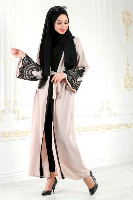 Nayla Collection Tesettür Dantelli Abaya Modelleri