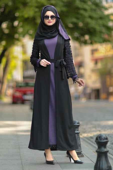 Nayla Collection Tesettür Siyah Abaya Modelleri