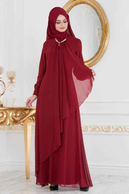 Neva Style Tesettür Şık Asimetrik Kesim Elbise Modelleri