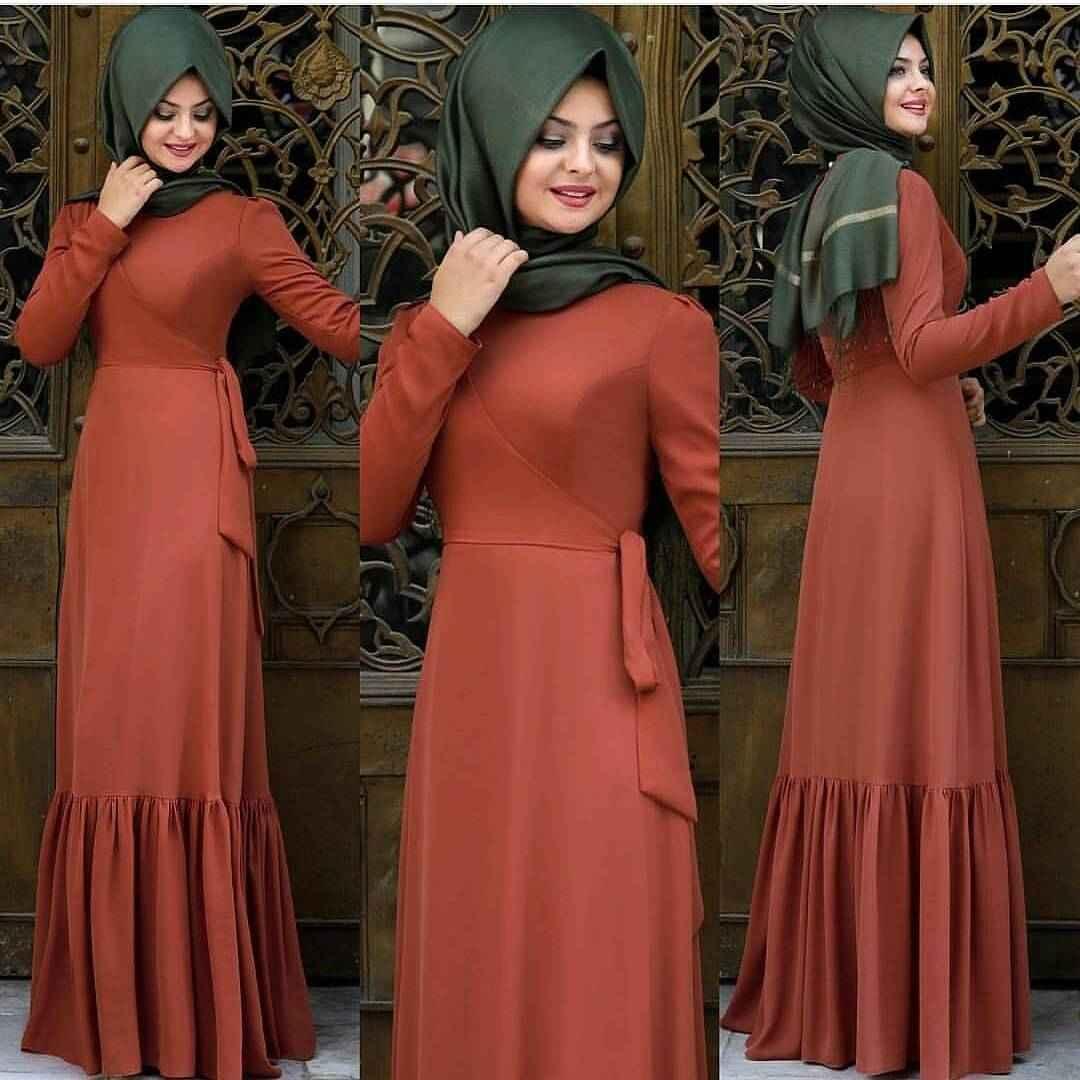Pınar Şems Şık Tesettür Elbise Modelleri