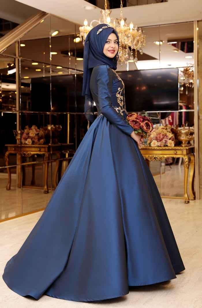 Pınar Şems En Güzel Tesettür Abiye Modelleri