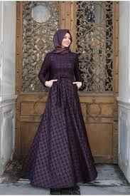 Pınar Şems Kazayağı Tesettür Elbise Modelleri