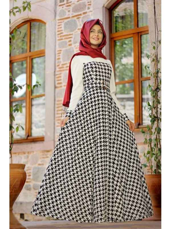 1efb285ea988f Pınar Şems Modern Tesettür Elbise Modelleri - Moda Tesettür Giyim