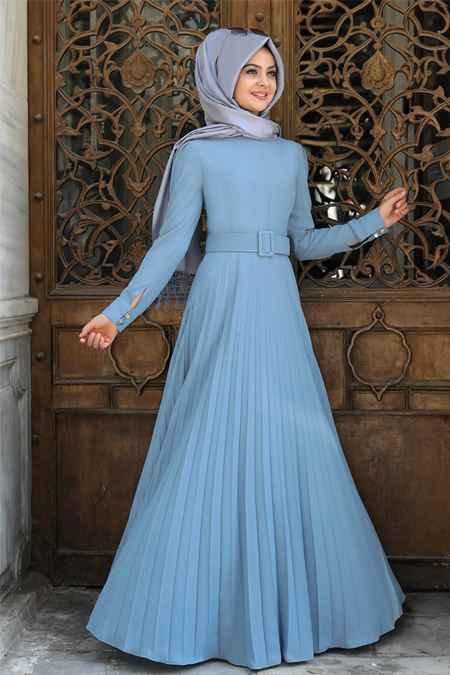 Pınar Şems Piliseli Tesettür Elbise Modelleri