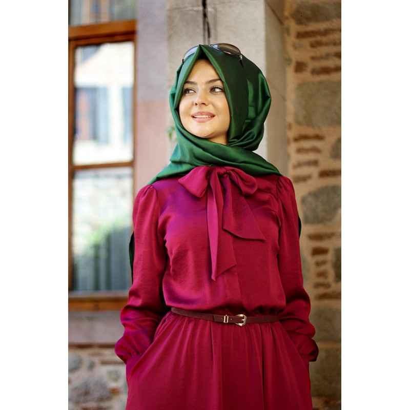 Pınar Şems Tesettür Fuşya Elbise Modelleri