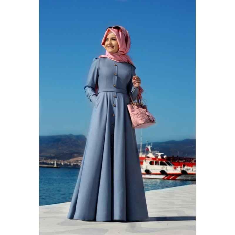 Pınar Şems Tesettür Kot Elbise Modelleri