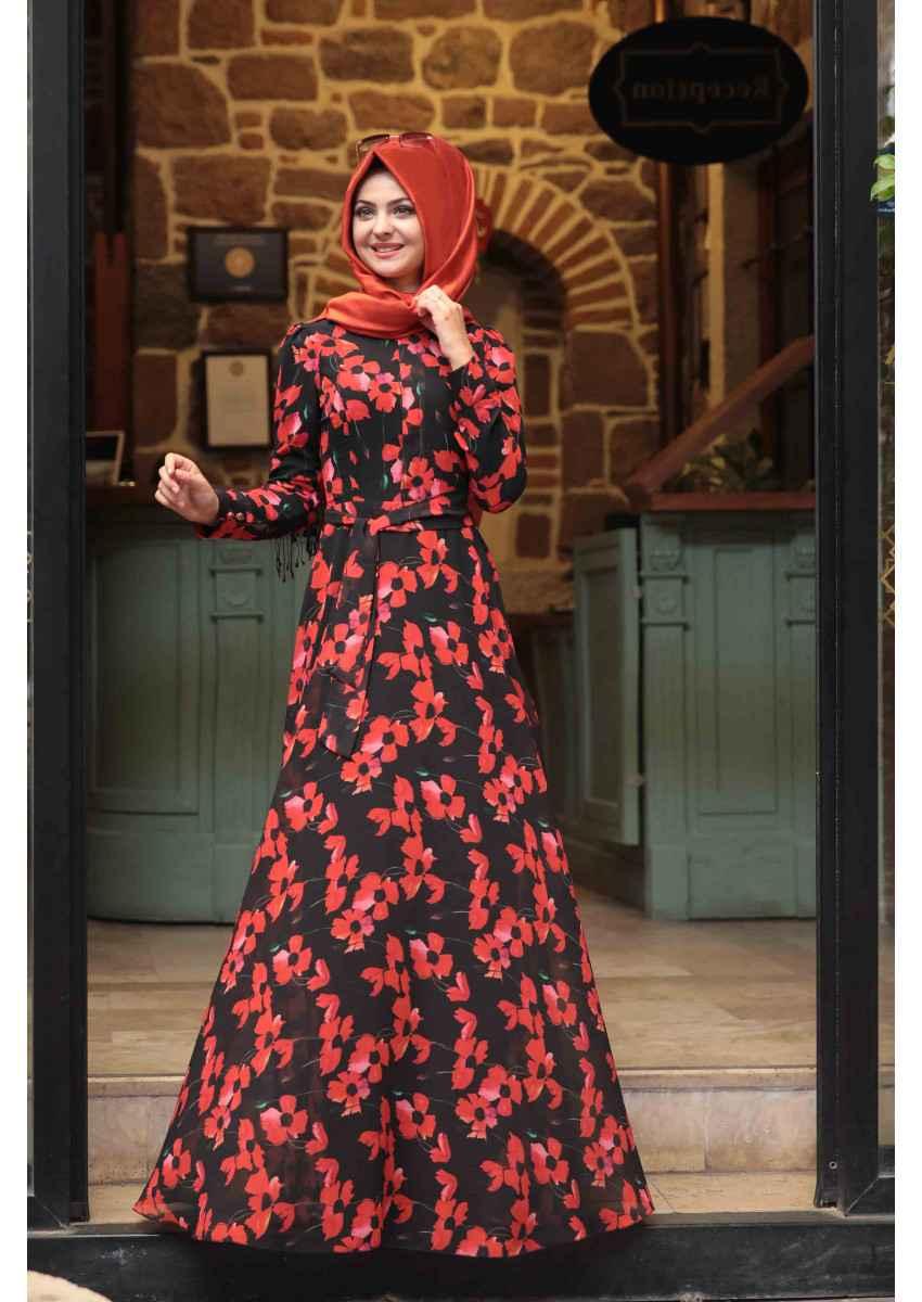 Pınar Şems Yazlık Tesettür Elbise Modelleri