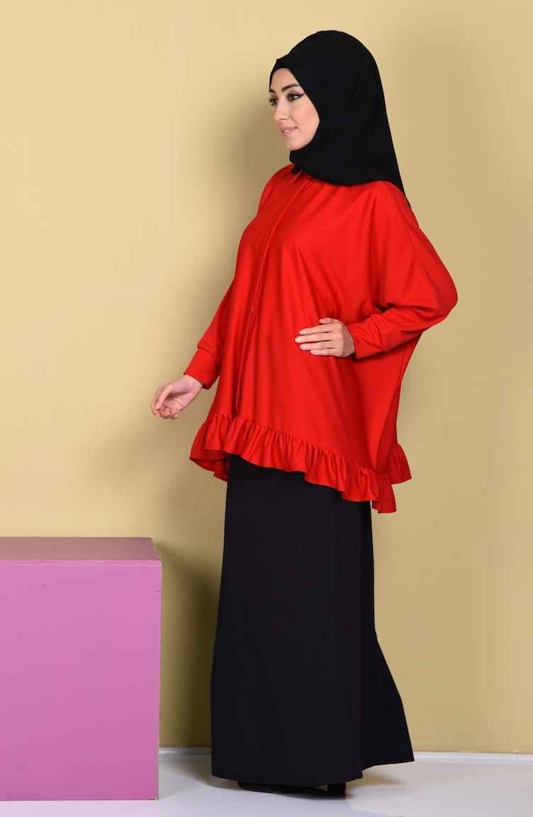 Sefamerve Tesettür Yarasa Kol Bluz Modelleri