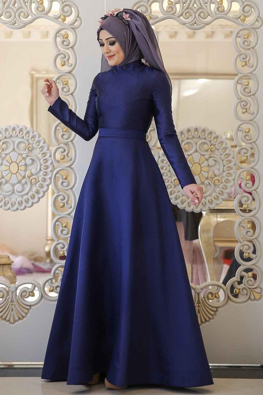 Şık Minel Aşk Tesettür Abiye Elbise Modelleri