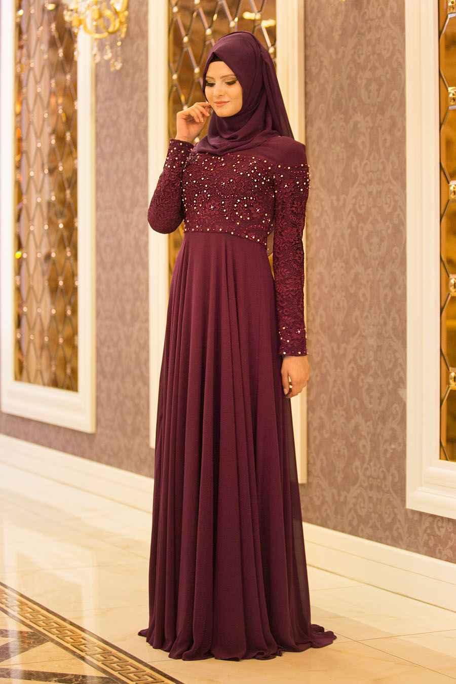 2019 Tesettür İsland Abiye Elbise Modelleri
