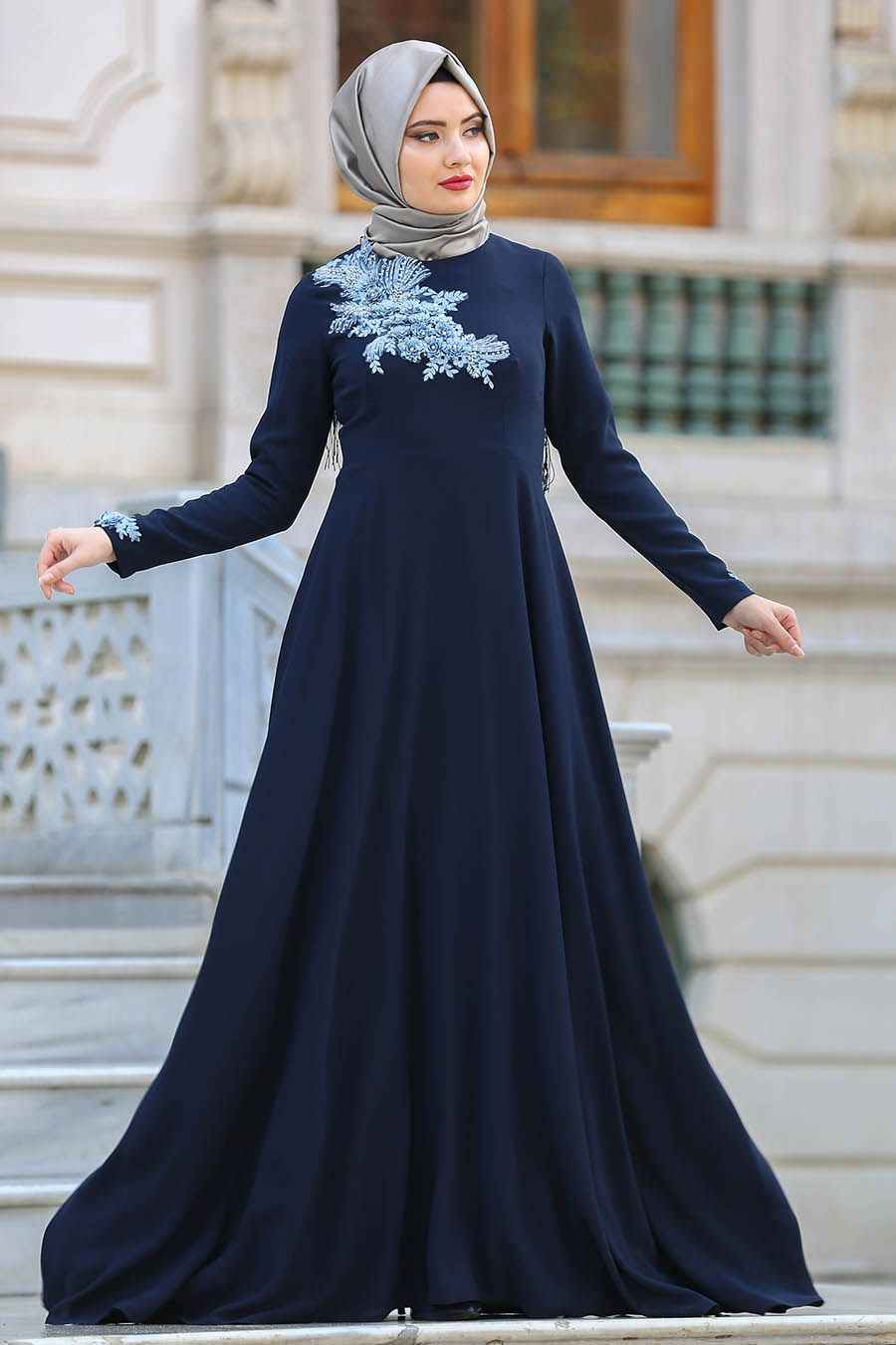 36b7eea56a872 2019 Tesettür Abiye Elbise Modelleri | Moda Tesettür Giyim