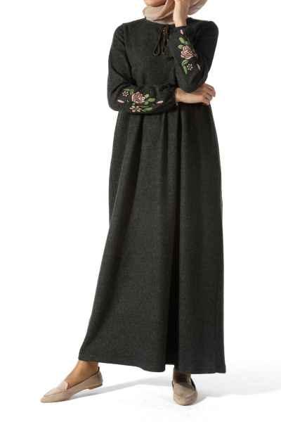 Allday Tesettür Dökümlü Elbise Modelleri