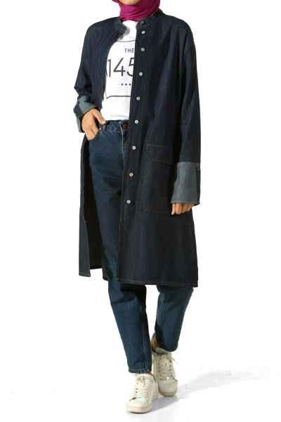 Allday Tesettür Kot Ceket Modelleri