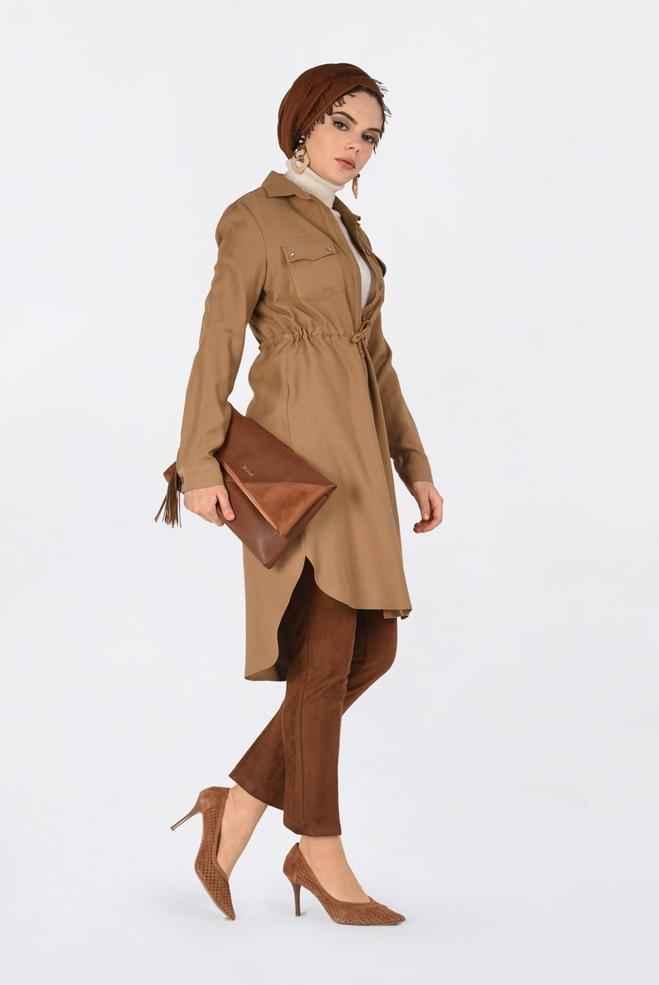 Alvina Tesettür Büzgülü Tunik Modelleri