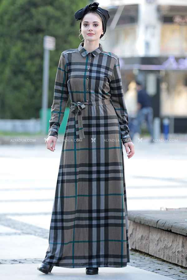 Alyadua Tesettür Yünlü Elbise Modelleri