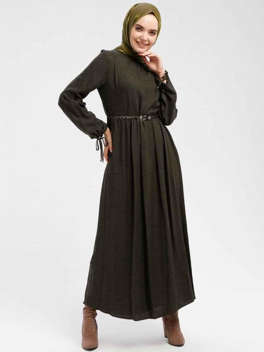 Armine Tesettür Yünlü Elbise Modelleri