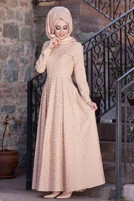 En Şık Minel Aşk Tesettür Elbise Modelleri