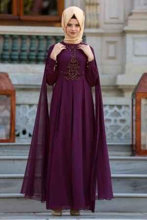 En Şık Neva Style Tesettür Abiye Elbise Modelleri