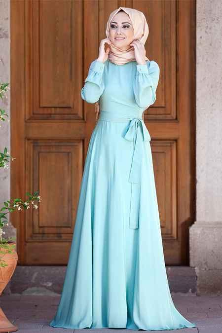 En Güzel Minel Aşk Tesettür Elbise Modelleri