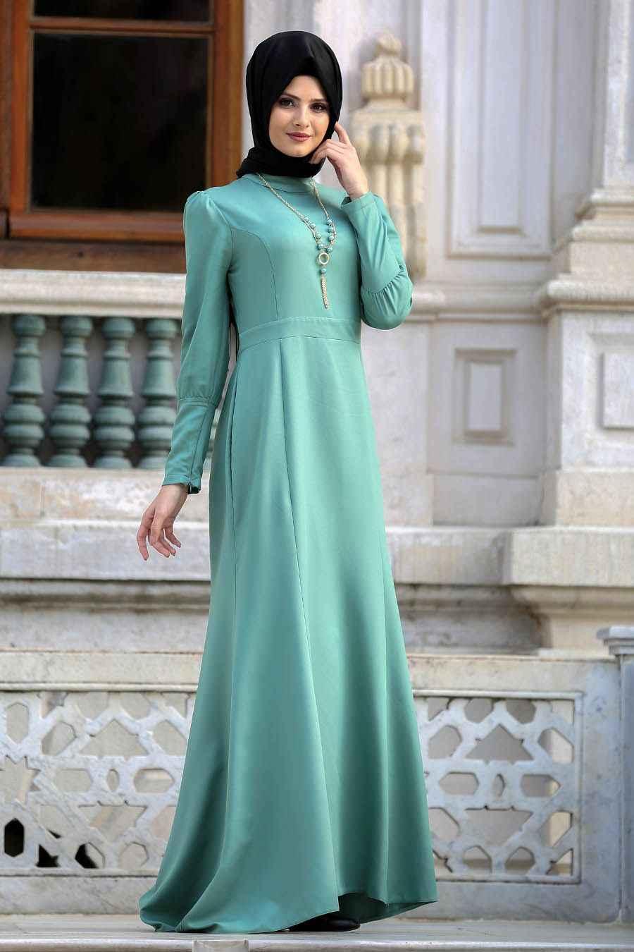 En Güzel Neva Style Tesettür Abiye Elbise Modelleri