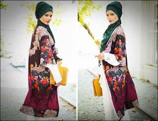 En Güzel Tesettür Kimono Modelleri