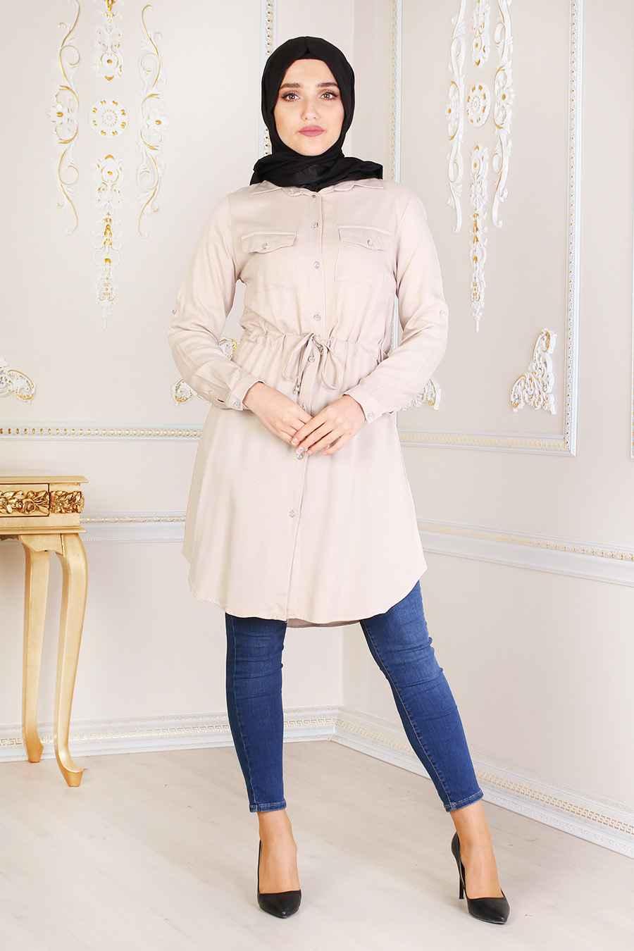 Feiza Collection Tesettür Büzgülü Tunik Modelleri