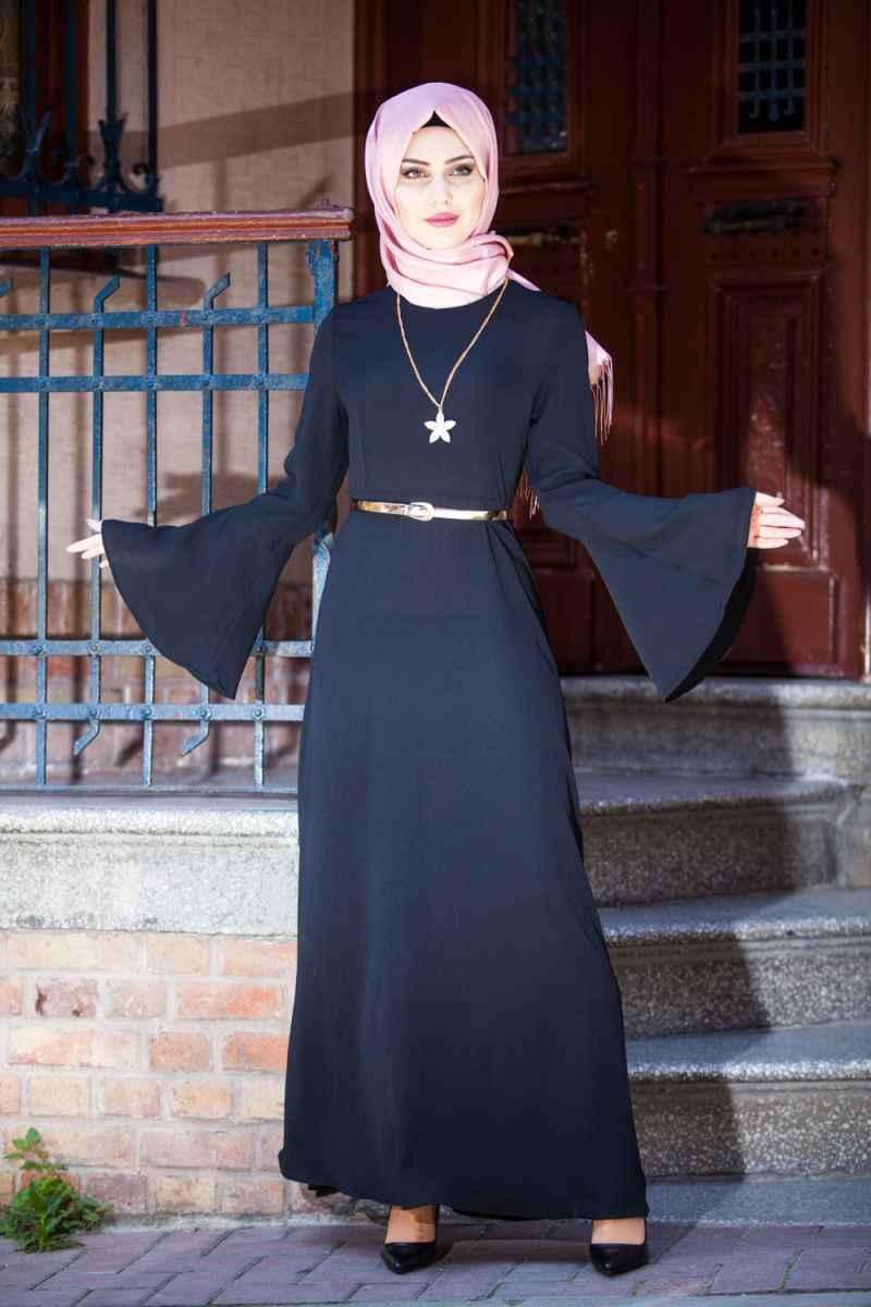 Fulyan Kolyeli Tesettür Elbise Modelleri