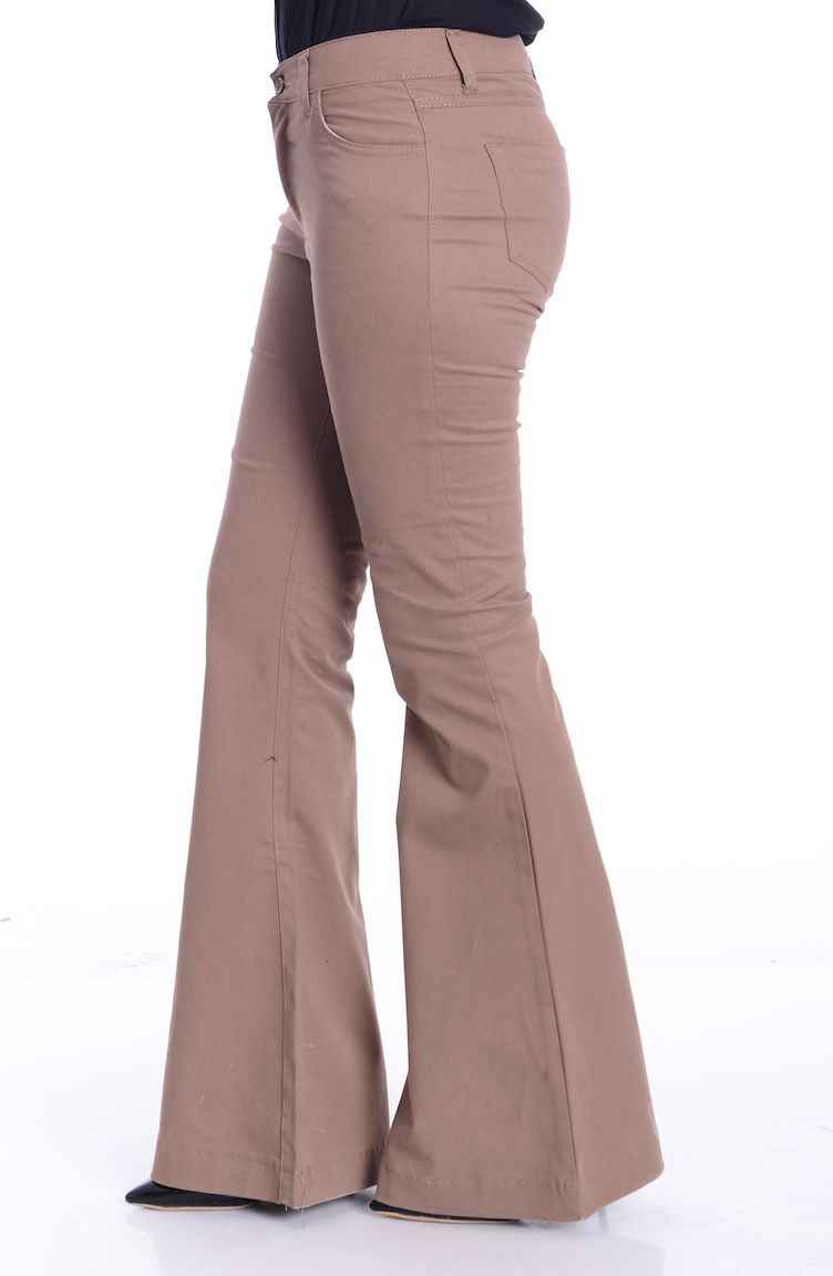 Gabardin İspanyol Paça Pantolon Modelleri