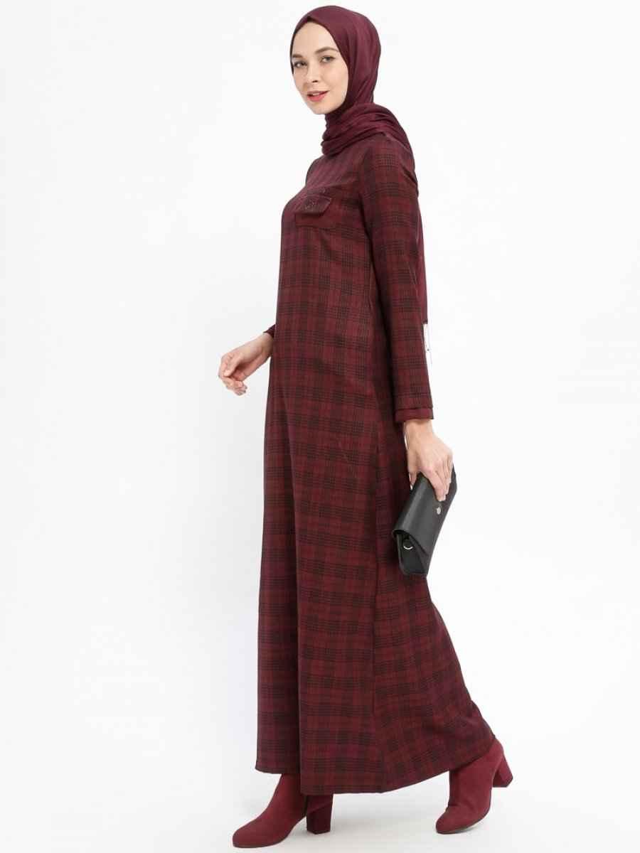 Ginezza Tesettür Yün Elbise Modelleri