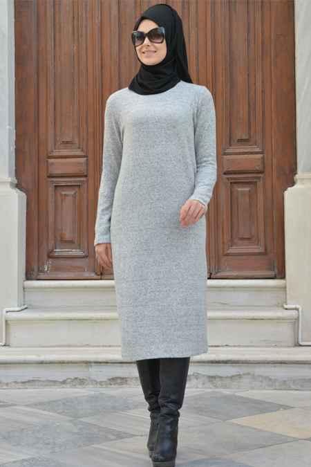 Henna Elisa Tesettür Yün Elbise Modelleri