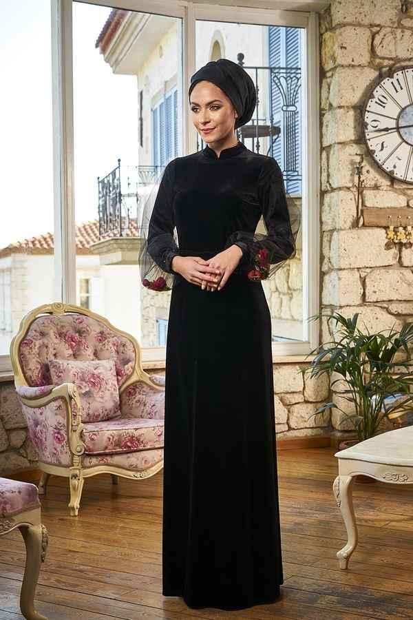 Minel Aşk Tesettür Boncuk Elbise Modelleri